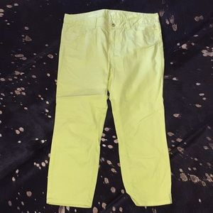 Loft yellow cropped pants